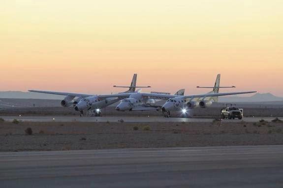 SpaceShipTwo, véhicule de Virgin Galactic, s'écrase lors de tests du moteur-fusée : 1 mort, 1 blessé