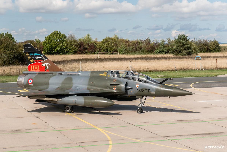 Mirage 2000 D n° 624, 133-IT, de l'EC 2/3 Champagne avec une décoration spéciale pour les 100 ans de la SPA 67.