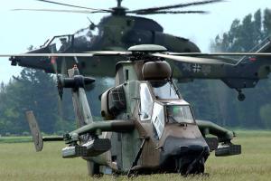 Deux hélicoptére Tigre, un français et un allemand