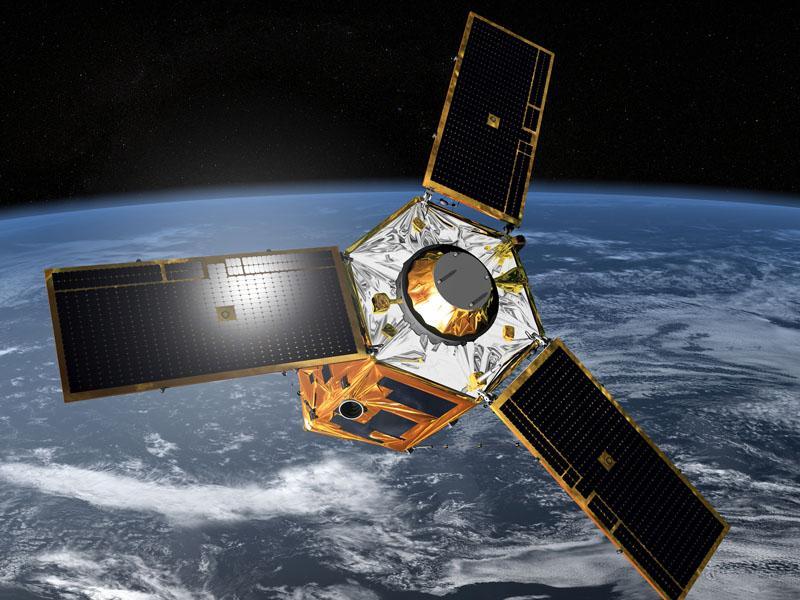 """Satellite de reconnaissance optique français du système """"Pléiades"""". Crédit photo CNES"""