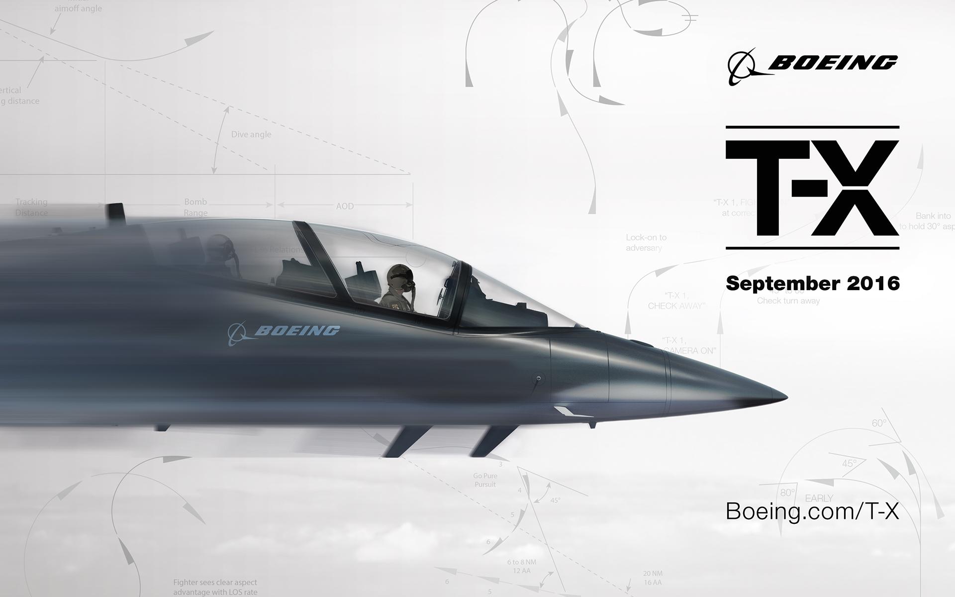 Maîtrisant sa communication de A à Z, Boeing n'a pas lésiné sur les moyens marketing pour attirer l'attention sur son T-X.Bien avant la première présentation en public, l'avionneur de Saint Louis inondait les réseaux sociaux de prévisualisations de son nouvel appareil. (© Boeing)
