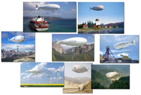 Vues d'artistes d'applications du LCA60T, Crédit: FLYING WHALES