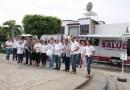 Presidente Roberto Nevárez, inaugura el arranque de los convoy's de Salud en Aquila Michoacán