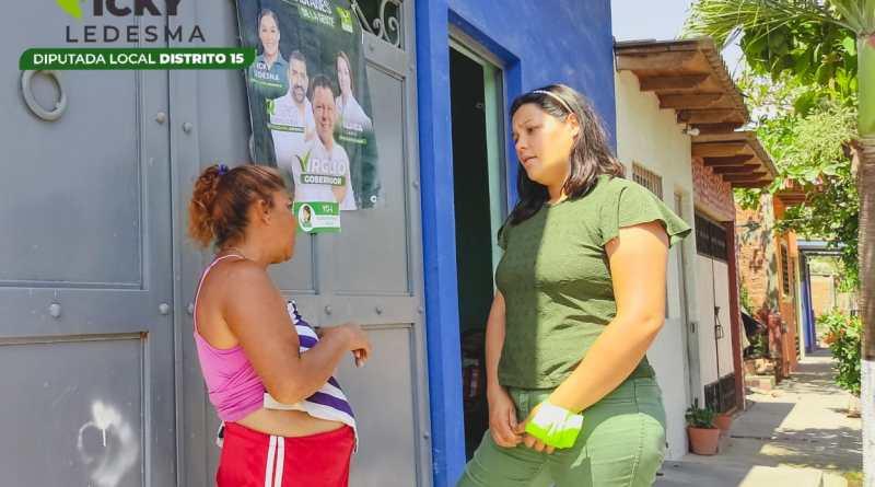 Vicky Ledesma: «El Partido Verde es la opción de la esperanza para Tecomán en estas elecciones»