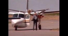 Bob Hoover e o Shrike Commander, em Denver, 1986