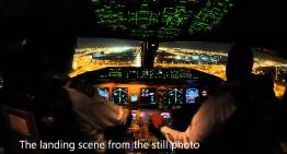 Pakistan International Airlines Boeing 777 landing into Dubai from the cockpit