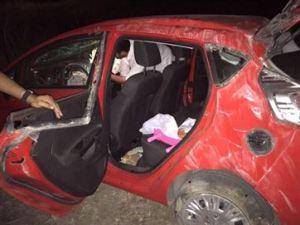 Perseguição a suspeitos termina com dois feridos após carro capotar, na Paraíba