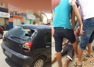 Motociclista colide com carro no centro de Cuité