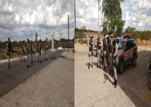 Policiais do 9º BPM realiza blits em São Vicente do Seridó PB