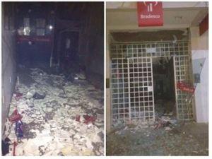 Bandidos explodem agência bancária em Desterro-PB; ninguém foi preso
