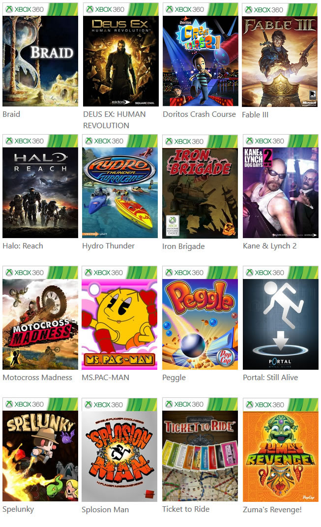Retrocompatibilidade Dezembro 2015 - 16 Games v2