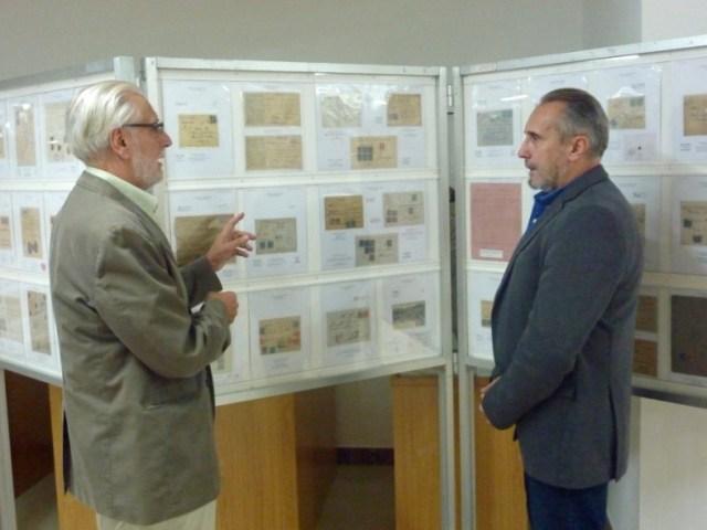 Andrés García Pascual con el director del Museo Francisco Gómez Cobas