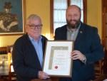 Sociedad Filatelica - Entrega Titulo Presidente de Honor a Jose Manuel Barreiro