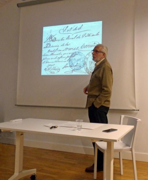 Un momento de la charla que dio Andrés García Pascual