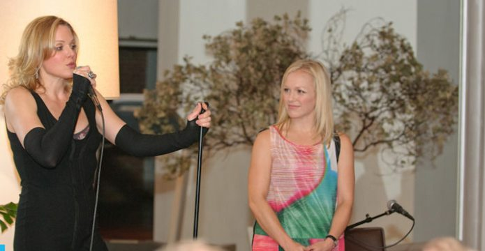 Storm Large, and Cara Jacobsen, PPCW Board President
