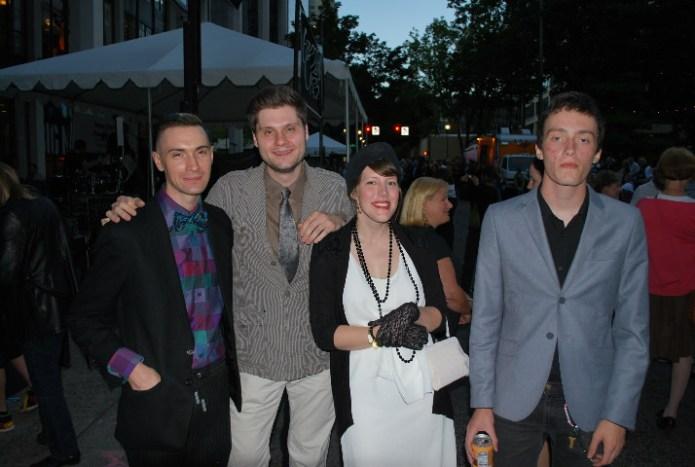 Jason Bray, Joshua Buck, Jaqueline Davis and Silas Davis