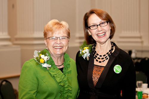 2013 Marie Lamfrom Women of Distinction Award recipients (L-R): Former Governor of Oregon Barbara Roberts and Oregon Attorney General Ellen Rosenblum.