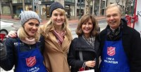 Celebrity Bell Ringing Day Hits High Notes for The Salvation Army