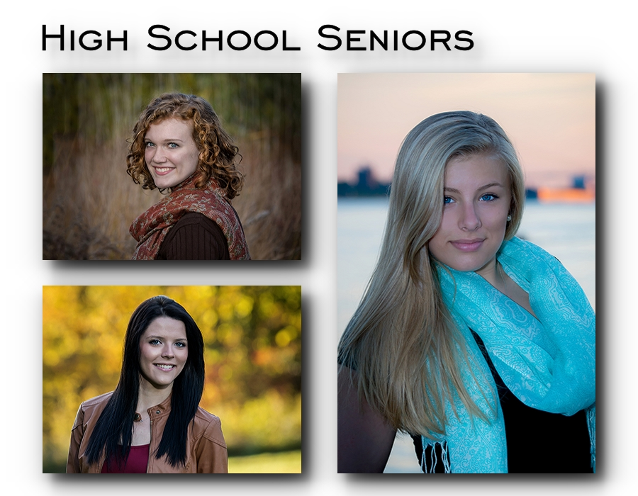 High School Senior Pictures - Girls - Oakland and Macomb - Birmingham, Shelby, Washington