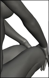 Female Crouching Figure Reference Pose - Set 02
