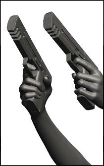 Female Gun Figure Reference Pose - Set 02