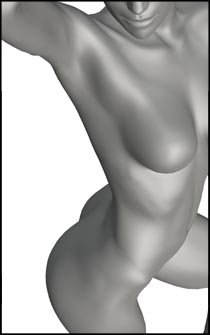 Female Standing Pose - For Anatomy Reference and Figure Drawing