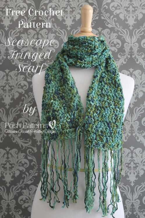 Free Pattern For Double Crochet Scarf : Free Crochet Pattern Seascape Scarf