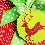 Sparkly Fabric Gift Tags