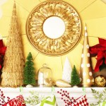Red, Gold & Lime Christmas Mantel