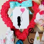 Ruffled Heart Valentine Wreath (February Silhouette Promotion)