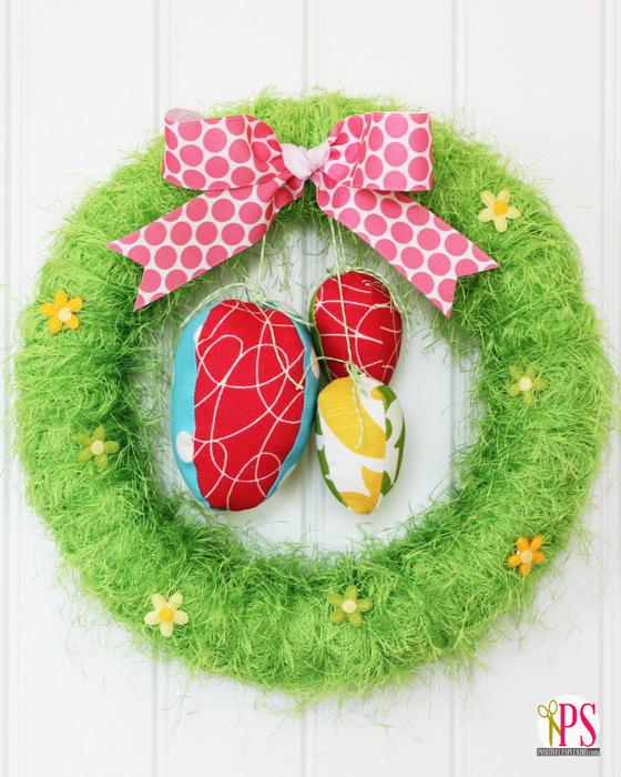 Easter Egg Wreath :: PositivelySplendid.com