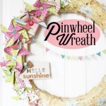 Spring Paper Pinwheel Wreath + Dear Lizzy Giveaway!
