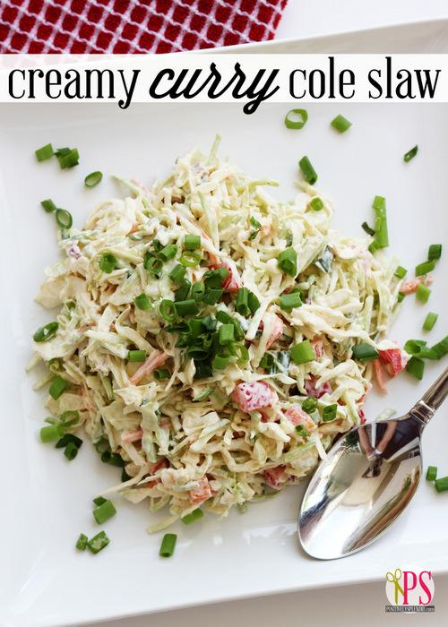 Creamy Curry Cole Slaw :: PositivelySplendid.com