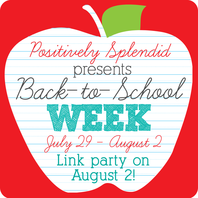 Back-to-School Week at Postiively Splendid