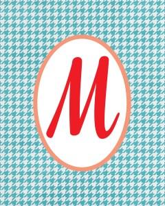 Blue Monogram M