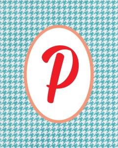 Blue Monogram P