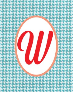 Blue Monogram W