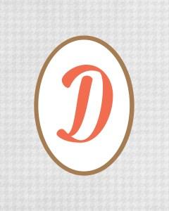 Grey Monogram D