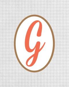Grey Monogram G