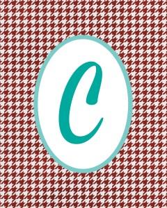 Red Monogram C