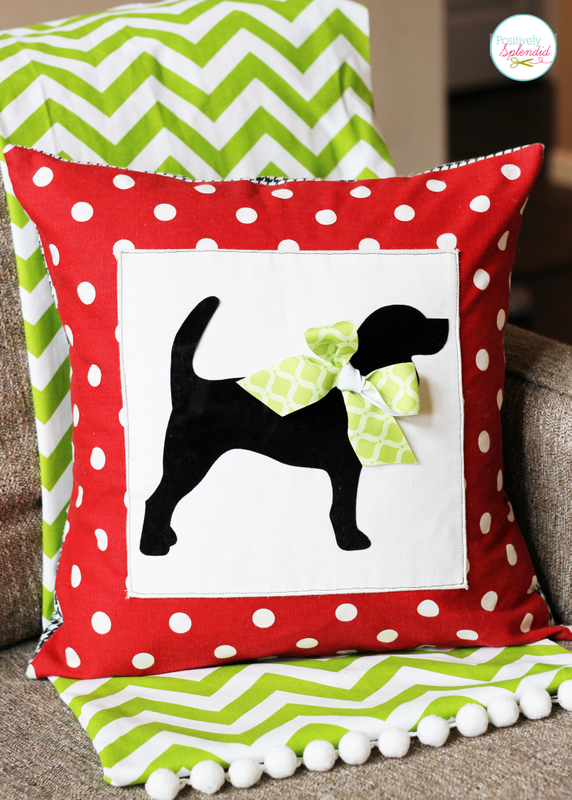 Custom Pet Silhouette Pillow Cover
