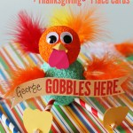 Silly Turkey Craft and Thanksgiving Place Cards #turkeytablescapes