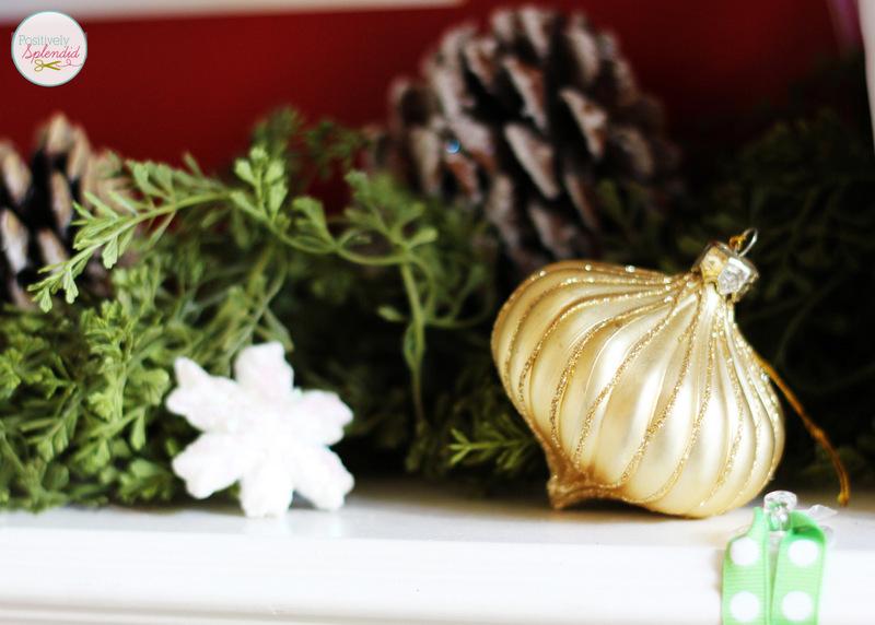 Traditional Christmas Mantel at Positively Splendid