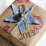 Stamped Kraft Paper Gift Wrap