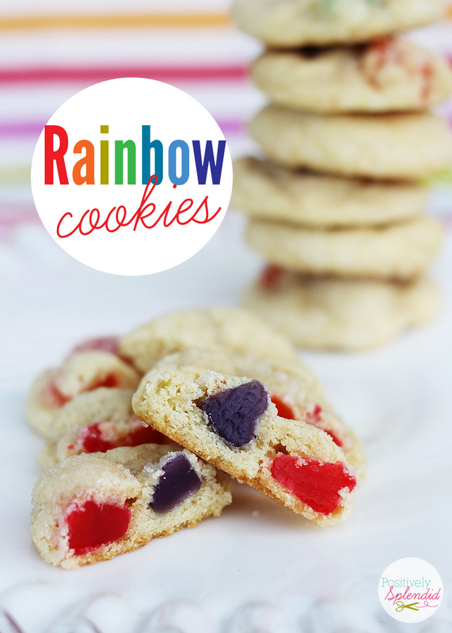 Rainbow Sugar Cookies - So perfect for St. Patrick's Day, or any day of the year!