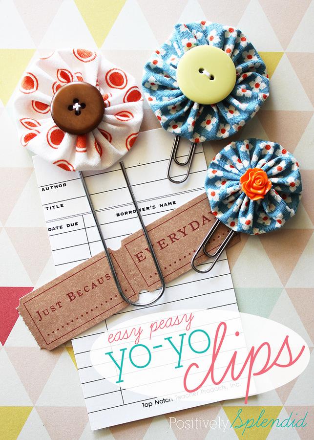 Easy yo-yo clips by Positively Splendid