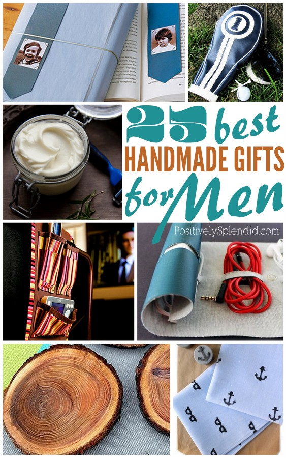 So many great ideas in this list of handmade gifts for men! Just in time for Father's Day.