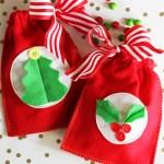 Easy Reusable Felt Gift Bags #MichaelsMakers
