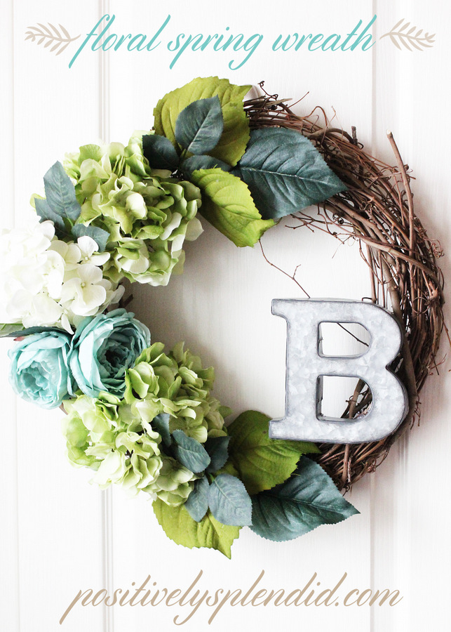Floral Spring Wreath at Positively Splendid #MichaelsMakers