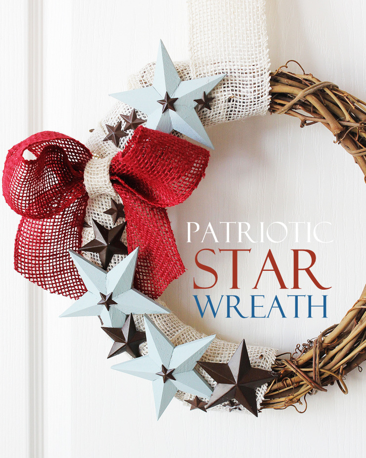 Patriotic Star Wreath Tutorial